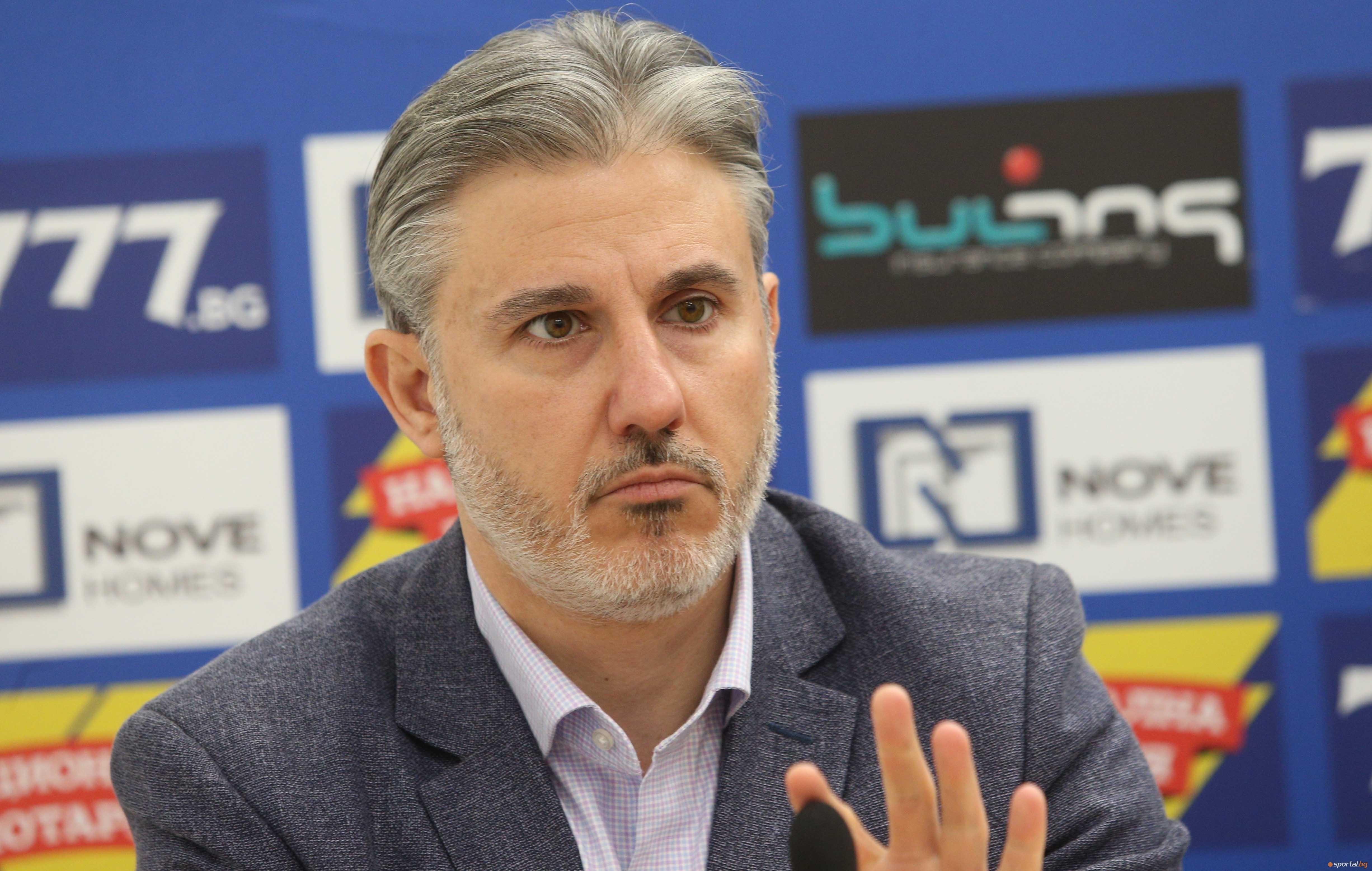 Изпълнителният директор на столичния гранд Левски Павел Колев и футболният