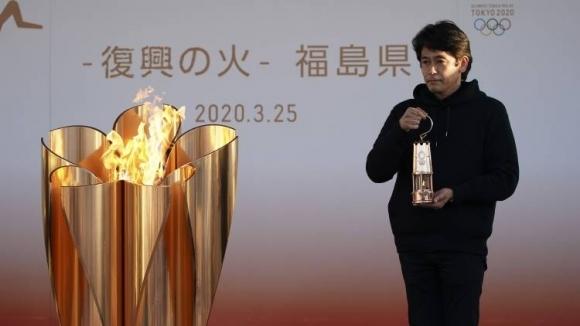 Олимпийският огън остава в град Фукушима до края на април,