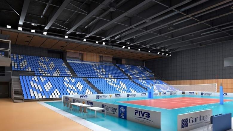 Въпреки извънредното положение изгражданетона спортната зала на ВК Левски София,