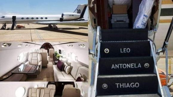 Частният самолет на голямата звезда на Барселона Лионел Меси е