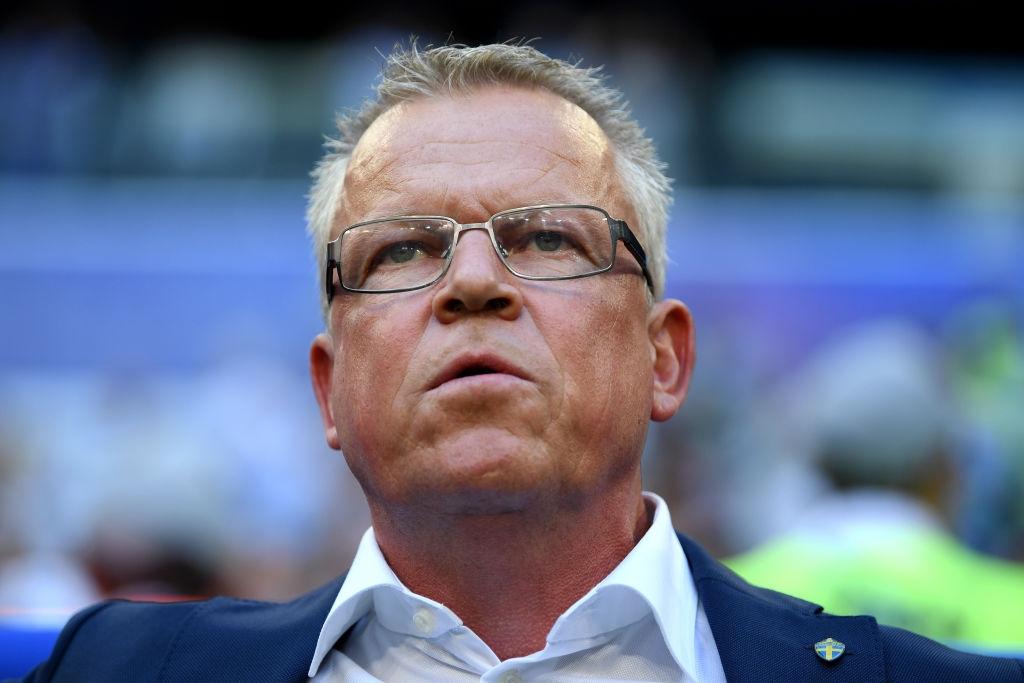 Селекционерът на националния отбор на Швеция по футбол Яне Андерсон