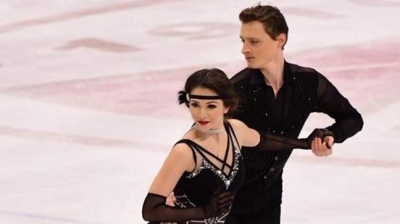 Българската танцова двойка по фигурно пързаляне Мина Здравкова и Кристофър