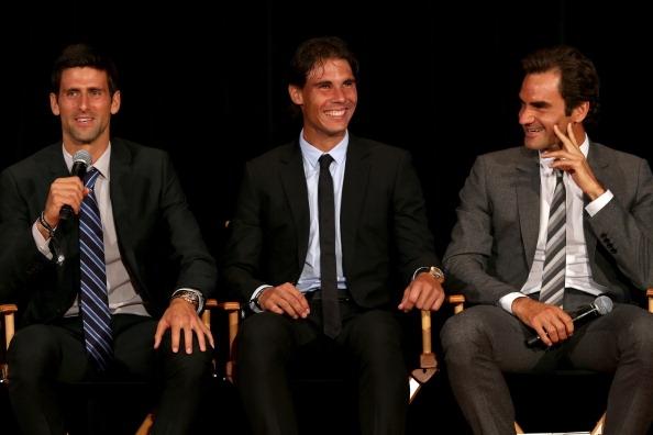 Тримата водещи тенисисти през този век Новак Джокович, Роджър Федерер