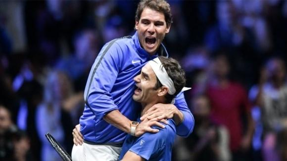 Рафаел Надал и Роджър Федерер поднесоха на феновете усмивки и