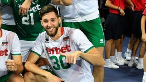 Един от най-перспективните ни състезатели по волейбол Георги Петров, който
