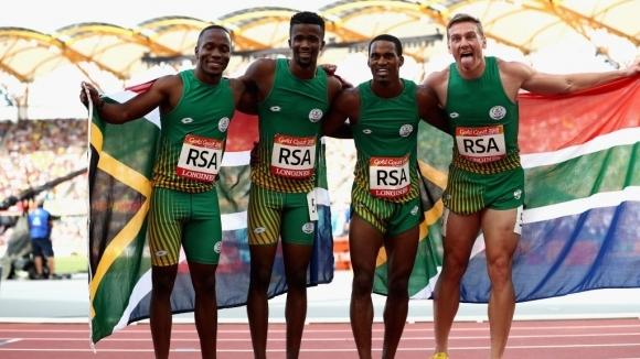 Южноафриканският мъжки квартет на 4х100 метра има потенциала да спечели