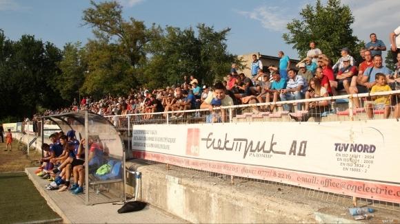 Обновява се градският стадион в Радомир. Общината е обявила обществена