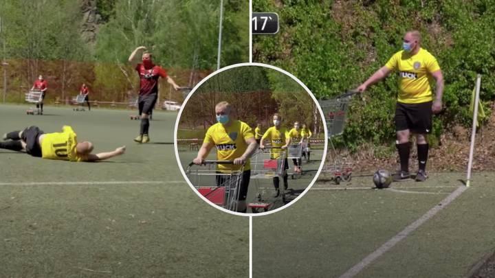 Аматьорските германски клубове Айнхайт и Кьонигщайн изиграха един от най-странните