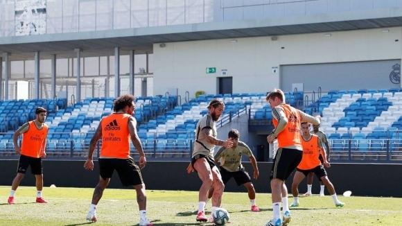 Отборът на Реал Мадрид днес проведе занимание на стадион