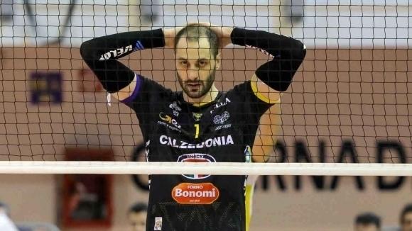 Българската волейболна звезда Матей Казийски и френският национал Стефан Бойер