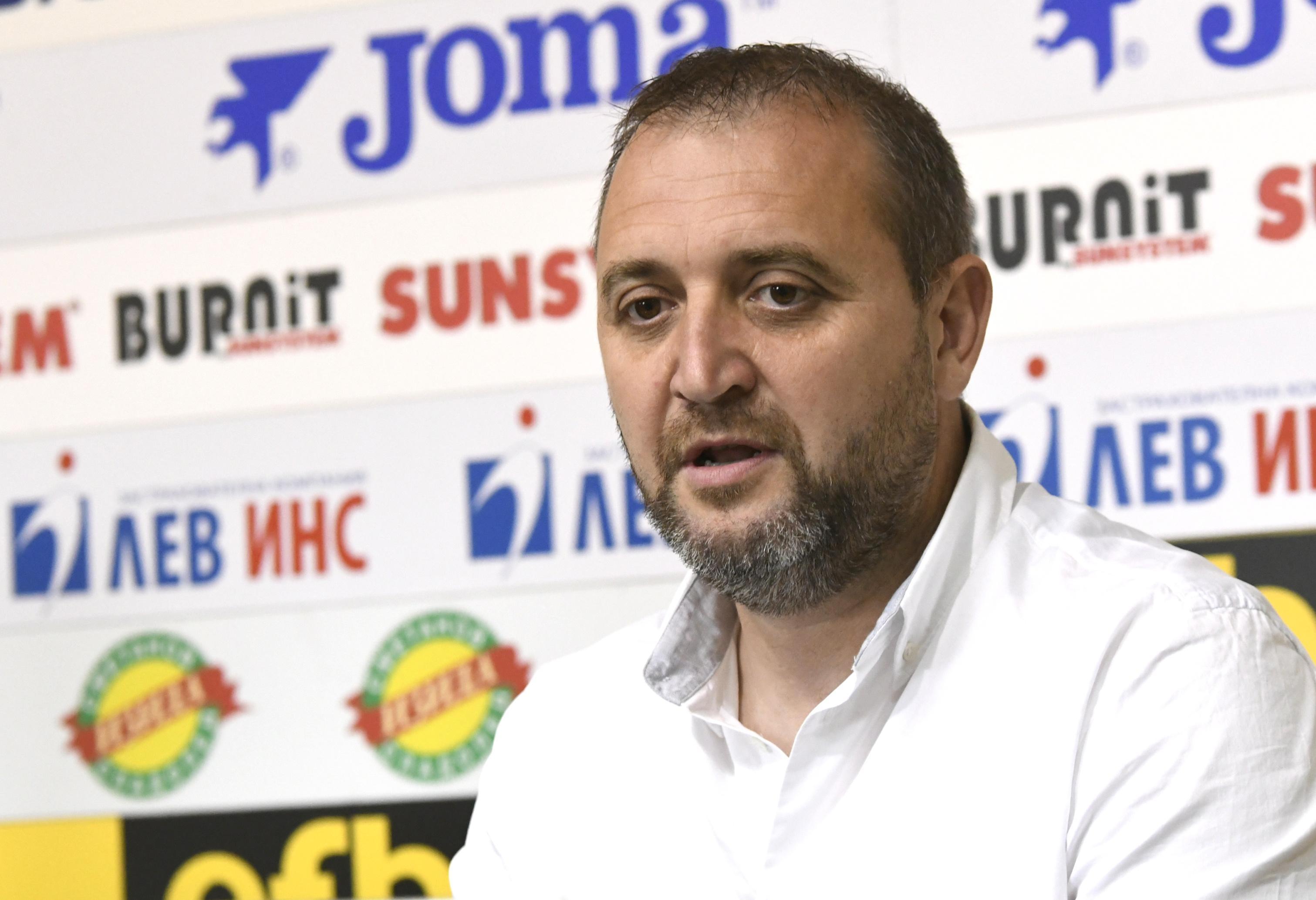 Старши-треньорът на Марица (Пловдив) Иван Петков, съвместно с президента на