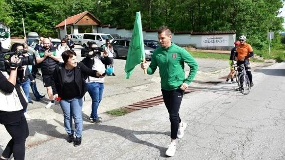 Футболистите на Ботев (Враца) се включиха в днешната щафета в