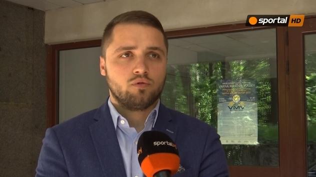 Президентът на ВК Хебър Александър Иванов говори пред Sportal.bg след