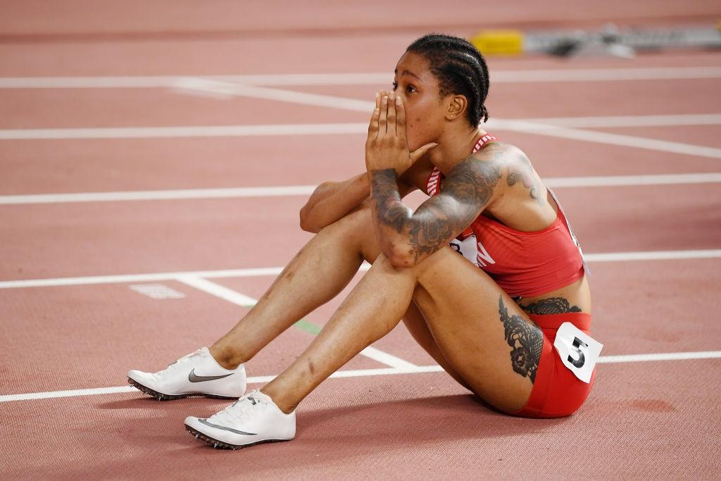 Световната шампионка на 400 метра Салва Аид Насър (Бахрейн) е