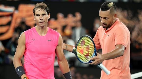 Скандалният тенисист Ник Кирьос призна, че е играл срещу Рафаел
