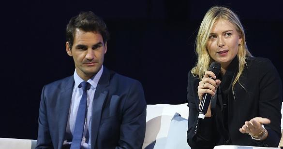 Двама големи тенис шампиони - Роджър Федерер и Мария Шарапова,