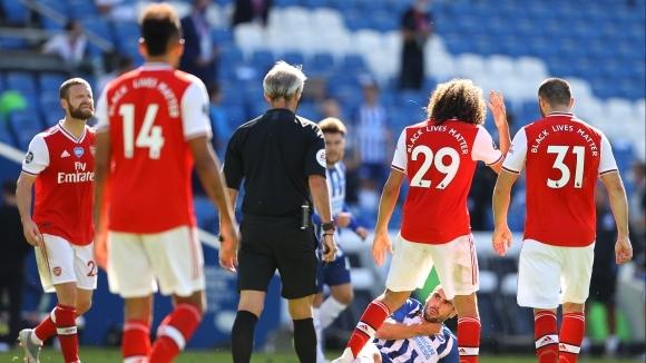 """Мениджърът Микел Артета описа като """"недопустим"""" начина, по който Арсенал"""
