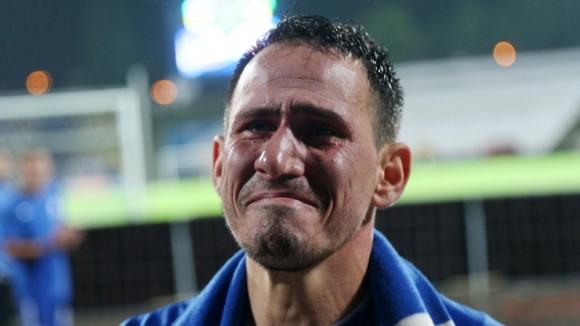 Капитанът на Левски Живко Миланов, който днес изигра последния мач