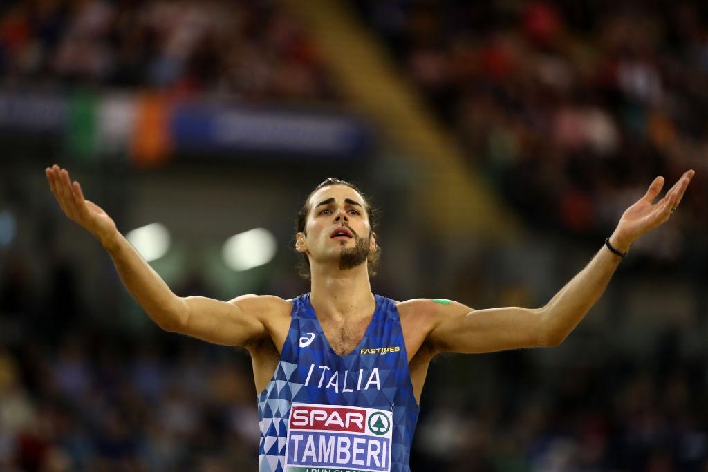 Европейският шампион в скока на височина в зала Джанмарко Тамбери