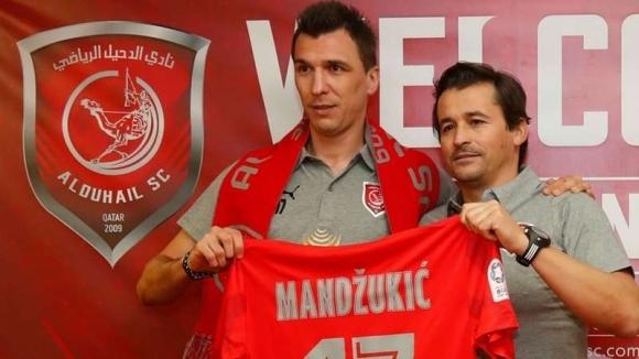 Хърватският нападател Марио Манджукич обяви в профила си в Туитър,