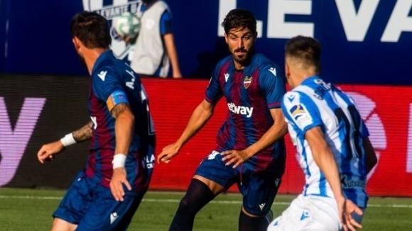 Леванте и Реал Сосиедад завършиха 1:1 в мача от 34-ия