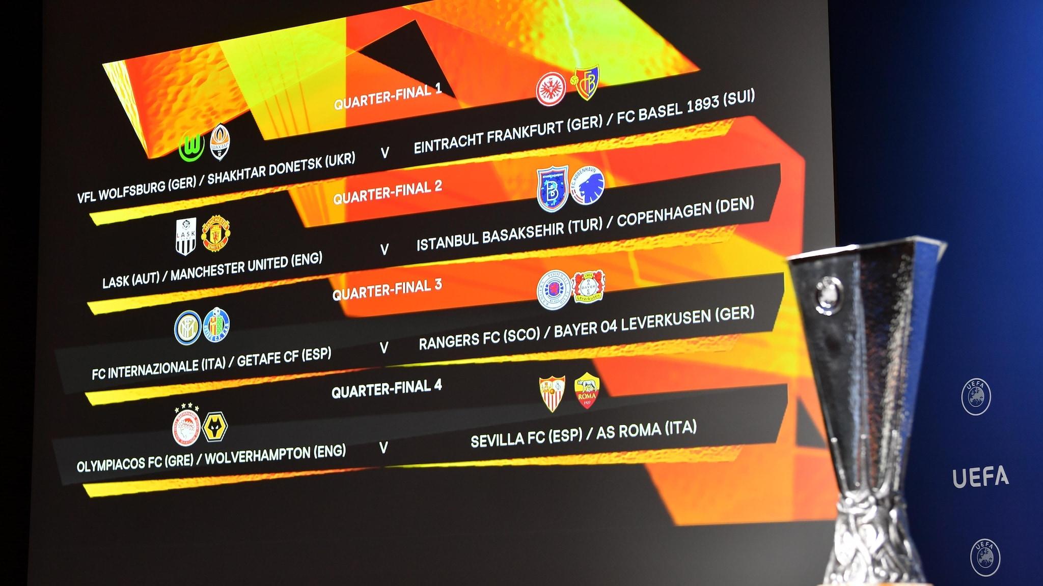 Жребият за 1/4-финалите и 1/2-финалите на Лига Европа стартира в