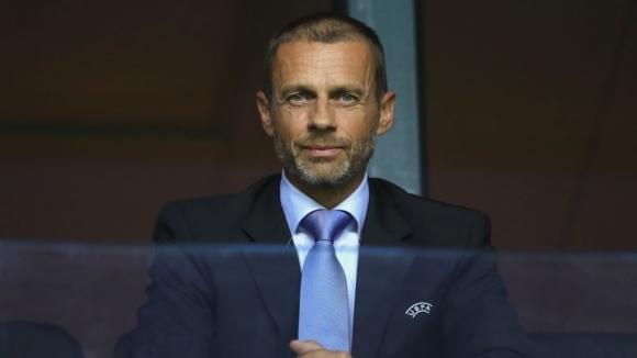Президентът на Европейската футболна асоциация (УЕФА) Александър Чеферин поздрави феновете