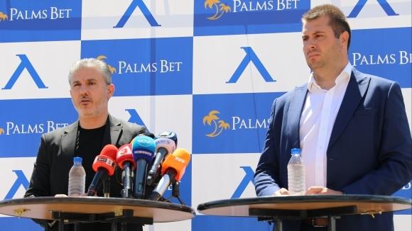 Изпълнителният директор на Левски Павел Колев и Лъчезар Петров, член