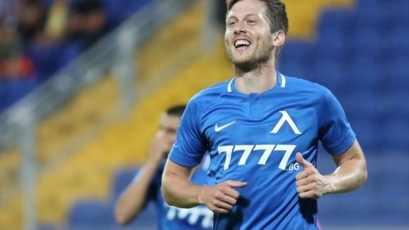 Австрийският нападател Дени Алар, който игра под наем в Левски,