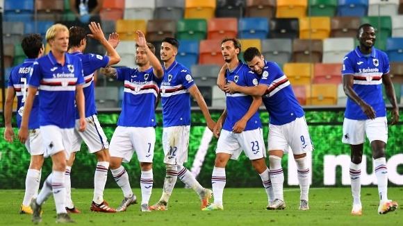 Сампдория записа трета победа от началото на юли и вече