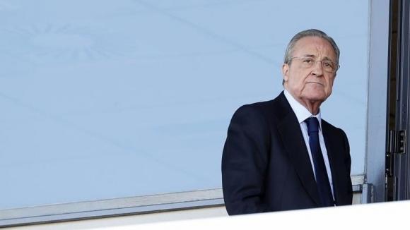 Президентът на Реал Мадрид Флорентино Перес не спира да хвали