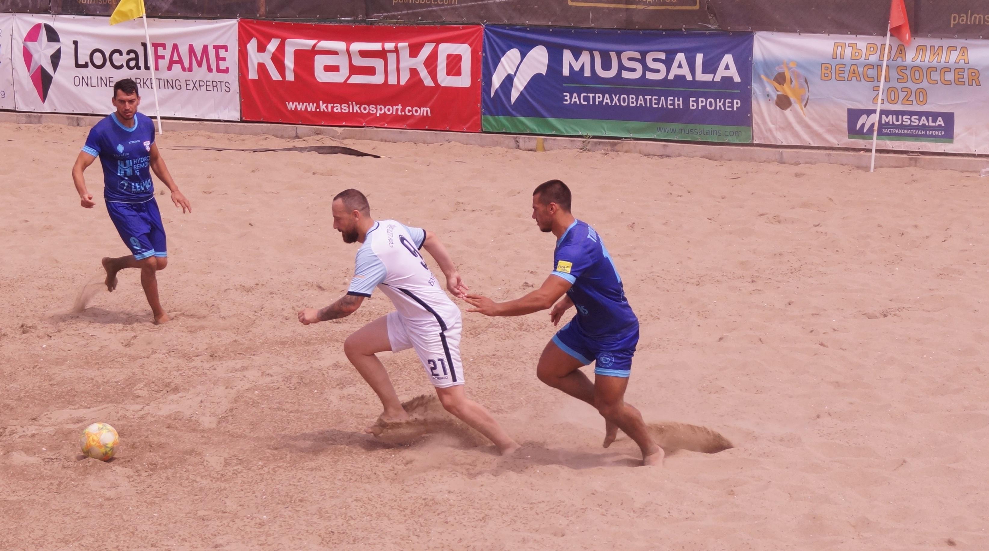 Шампионът на страната по плажен футбол МФК Спартак (Варна) записа