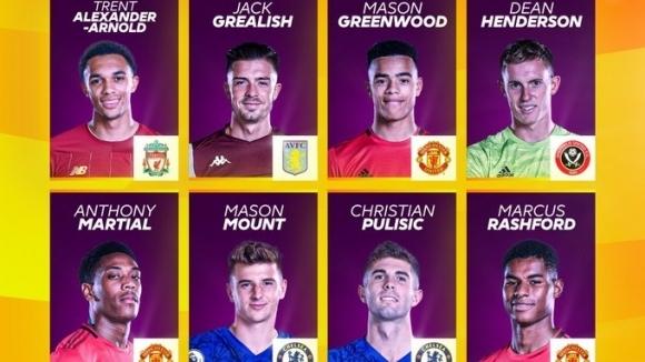 Атакуващото трио на Манчестър Юнайтед - Маркъс Рашфорд, Антони Марсиал