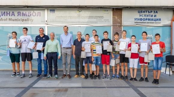 Kметът на Ямбол Валентин Ревански поздрави състава на баскетболния отбор