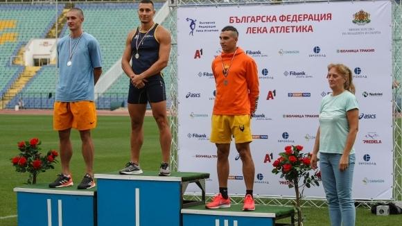 Петър Пеев (СКЛА Ивет Лалова Спринт Академи) и Инна Ефтимова