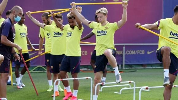 Един от деветимата играчи на Барселона, които вчера следобед са