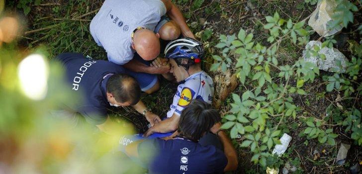 Кошмарен инцидент преживя колоездачът Ремко Евенепул по време на
