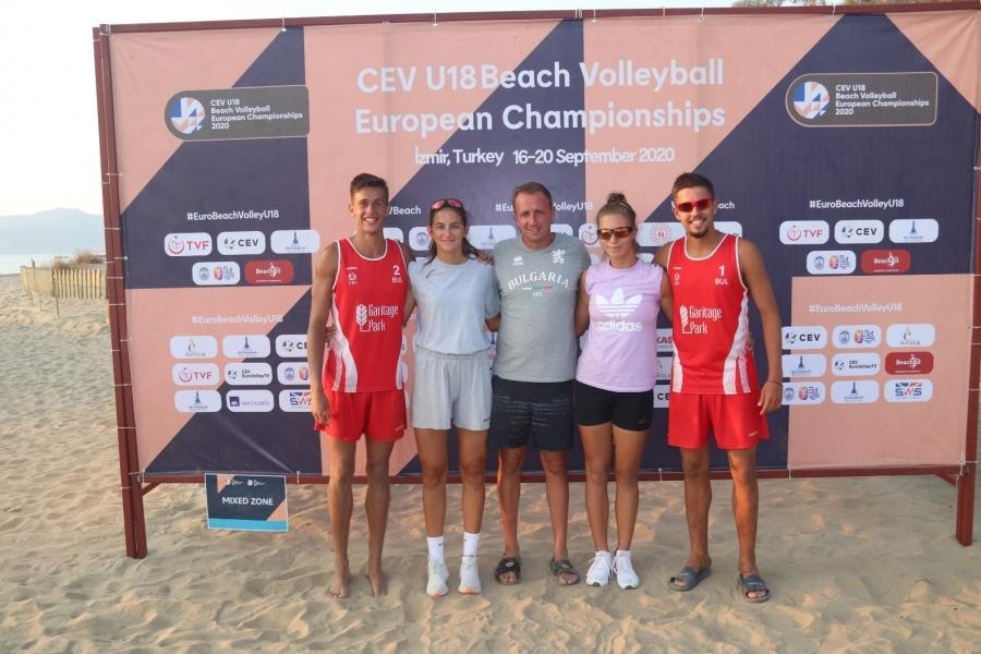 Националните двоики на България по плажен волеибол отпаднаха от европеиското
