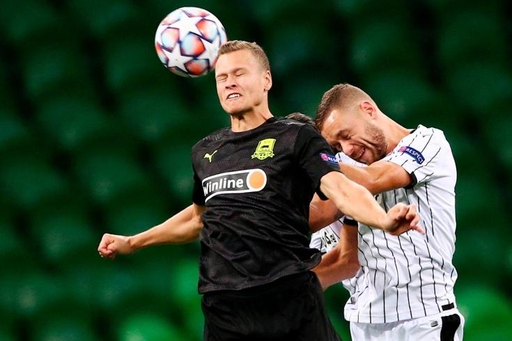 Руският Краснодар взе крехък аванс от 2:1 срещу гръцкия гранд