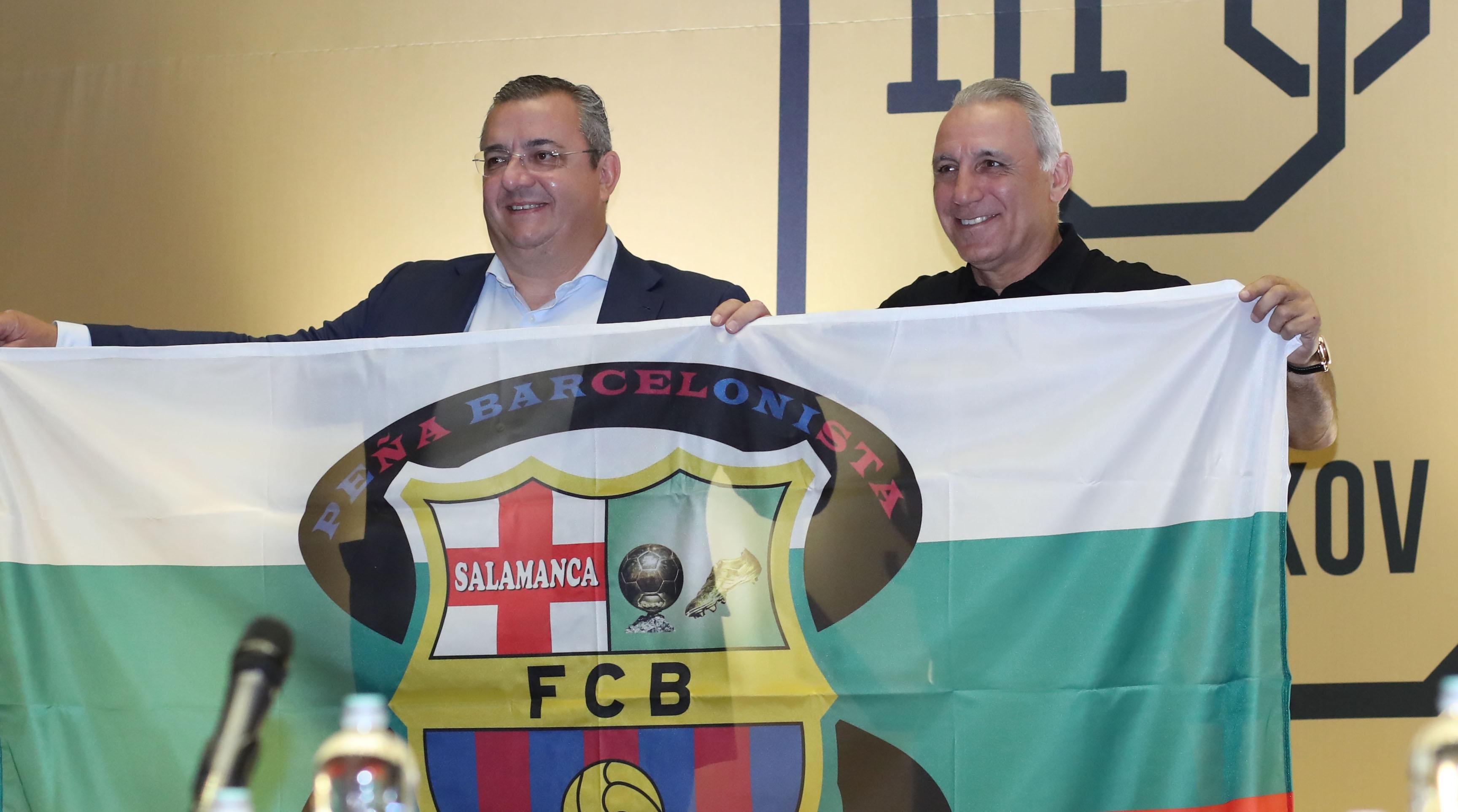 Носителят на КЕШ с Барселона Христо Стоичков за пореден път