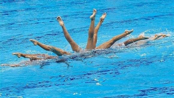 Членовете на Руския параолимпийски отбор по синхронно плуване, които в