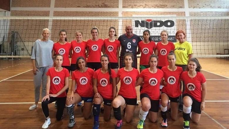 Днес женският волейболен отбор на Локомотив -1929 – Нидо (София)