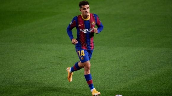 Полузащитникът на Барселона Филипе Коутиньо ще пропусне мача от Шампионска