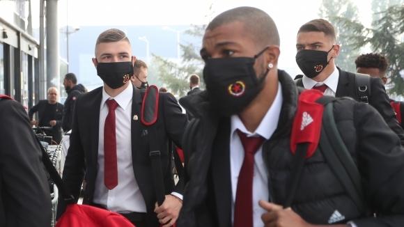 Отборът на пристигна в Рим за мача срещу от турнира