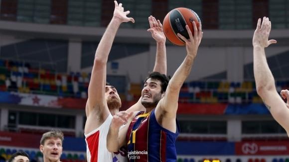 Барселона спечели голямото дерби на 20-ия кръг в баскетболната Евролига.