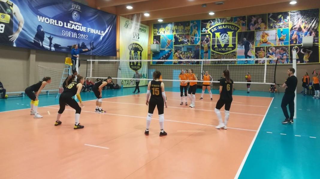 Волейболният шампион на България Марица (Пловдив) победи румънския КСМ Търговище