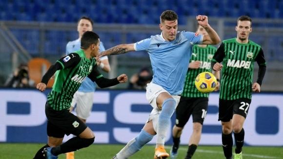 Лацио постигна четвърта поредна победа в 19-ия кръг на Серия