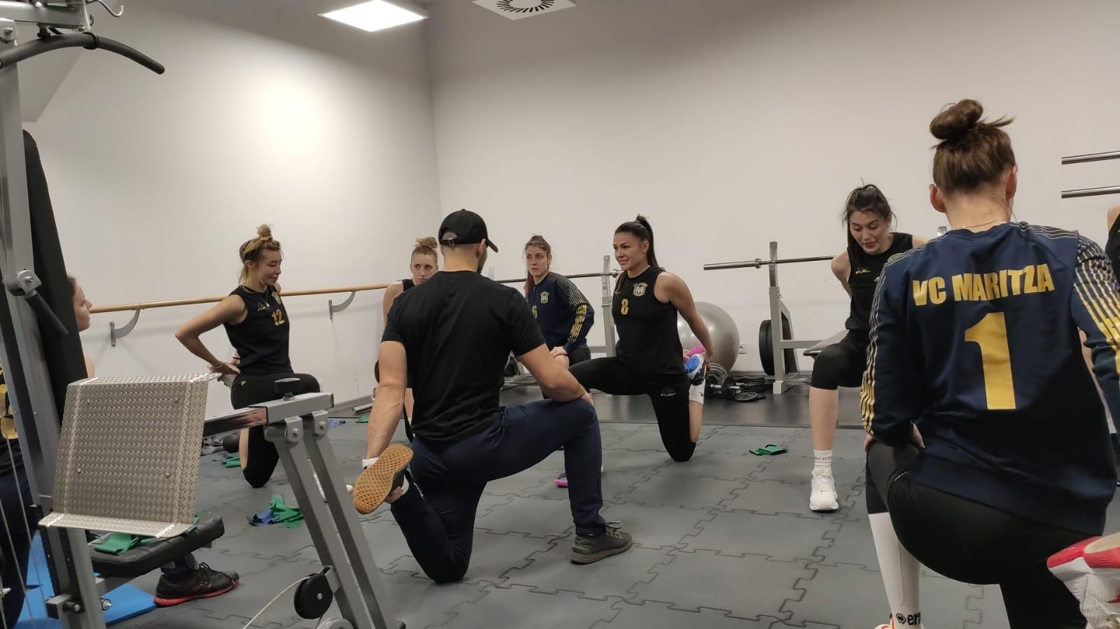 Женският волейболен шампион на България Марица (Пловдив) пристигна в полския