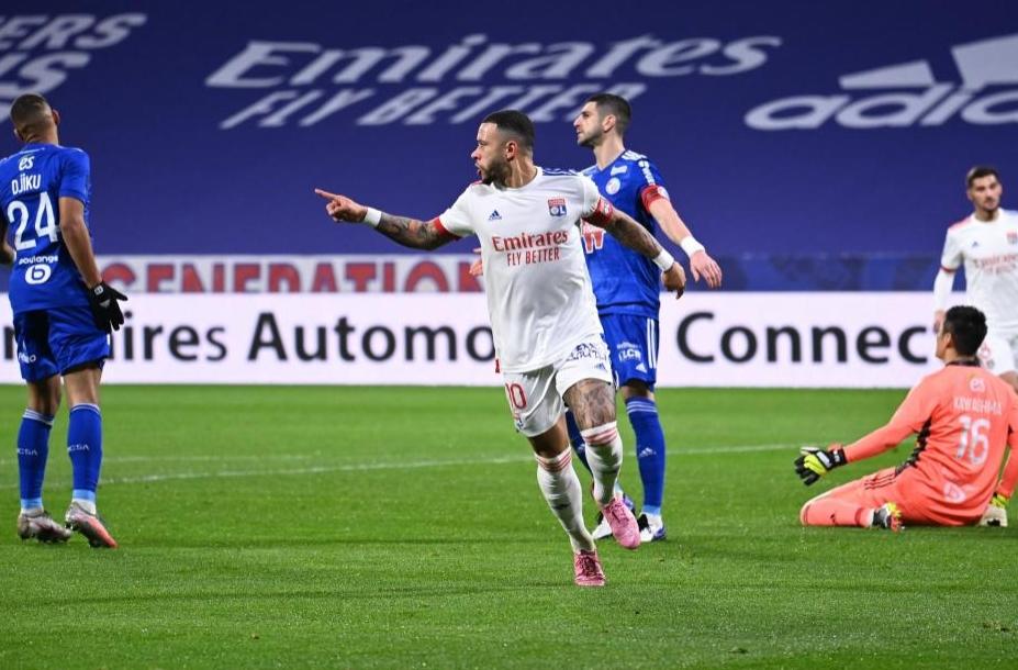 Отборът на Лион победи лесно с 3:0 у дома Страсбург