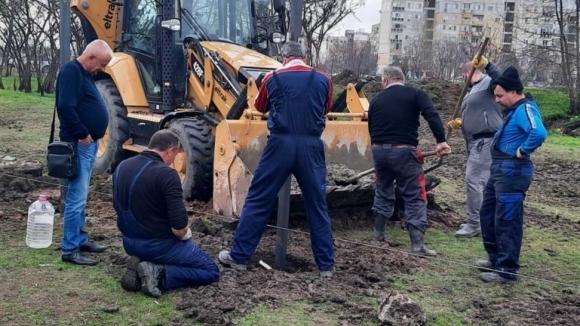 Президентът на Христо Крушарски лично инспектира днес работата на базата